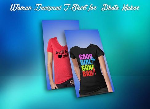 Woman Designed T-Shirt Photo Suit poster