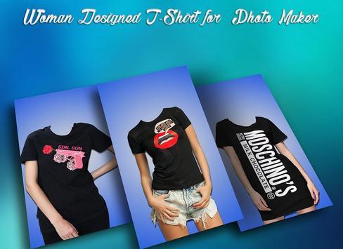 Woman Designed T-Shirt Photo Suit screenshot 1