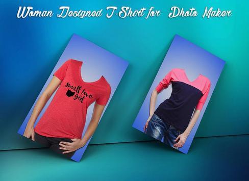 Woman Designed T-Shirt Photo Suit screenshot 2