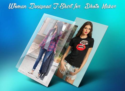 Woman Designed T-Shirt Photo Suit screenshot 3