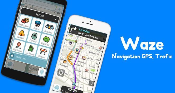 Navigation Waze maps , gps , traffic , alerts Tips screenshot 1