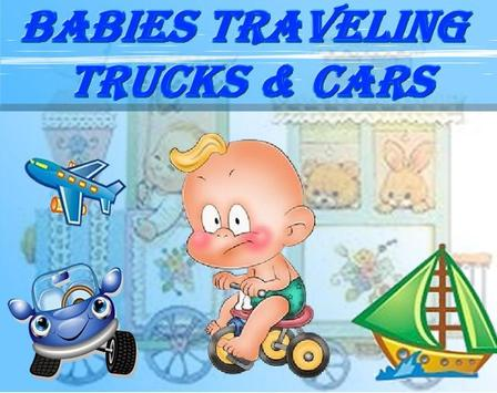 Babies traveling - Vehicles poster