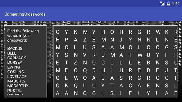 Computer Science Keyword XWord screenshot 4