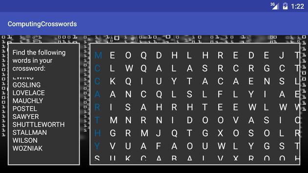 Computer Science Keyword XWord screenshot 5