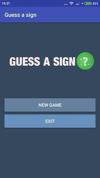 Guess a Sign (Math Game) poster