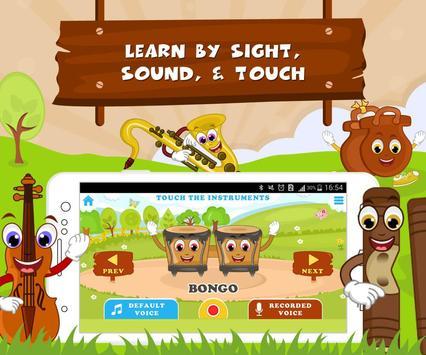 Learn Musical Instrument Names screenshot 1