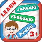 Learn Months Of Year- Kids Fun icon