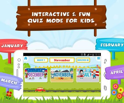 Learn Months Of Year- Kids Fun screenshot 3