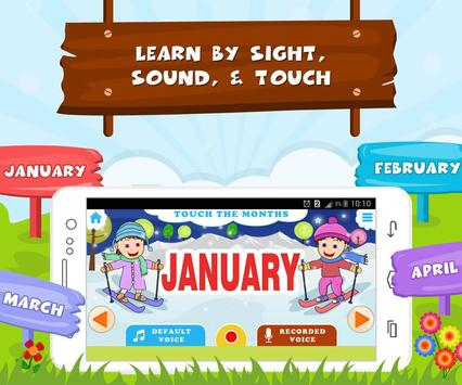 Learn Months Of Year- Kids Fun screenshot 1