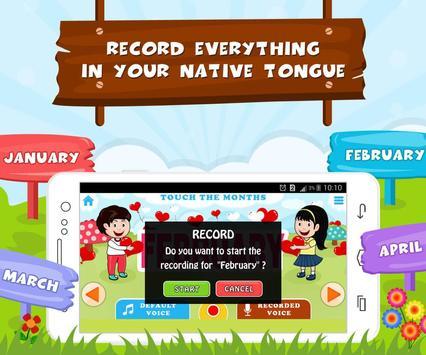 Learn Months Of Year- Kids Fun screenshot 2