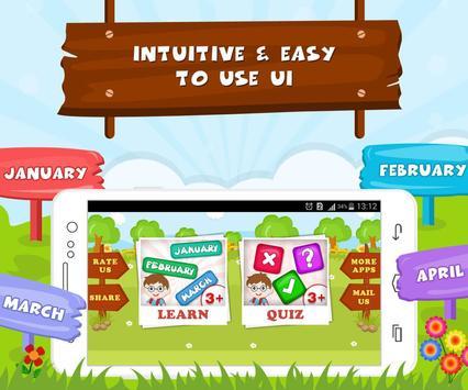 Learn Months Of Year- Kids Fun screenshot 8