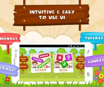 Learn Days Of Week - Kids Fun screenshot 4