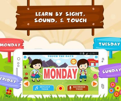 Learn Days Of Week - Kids Fun screenshot 1