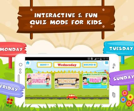 Learn Days Of Week - Kids Fun screenshot 3