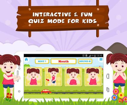 Learn Parts Of Body - Kids Fun screenshot 11