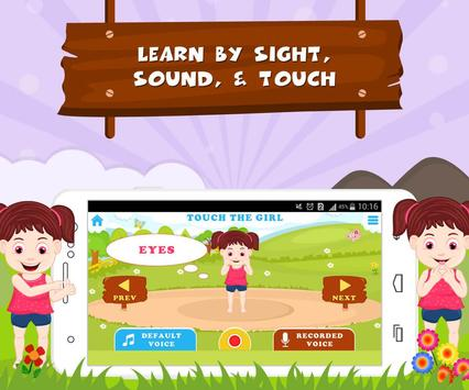 Learn Parts Of Body - Kids Fun screenshot 1
