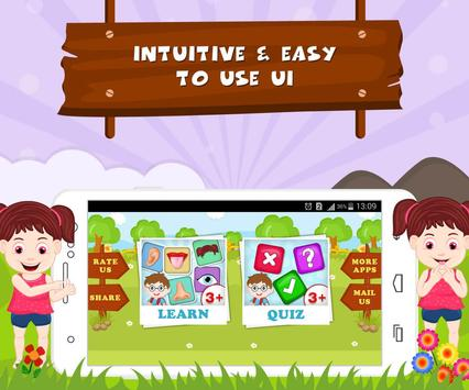 Learn Parts Of Body - Kids Fun screenshot 8
