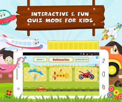 Learn Vehicle Names - Kids Fun screenshot 11