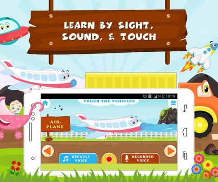 Learn Vehicle Names - Kids Fun screenshot 1