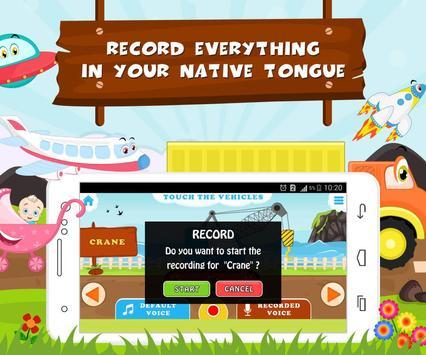 Learn Vehicle Names - Kids Fun screenshot 2
