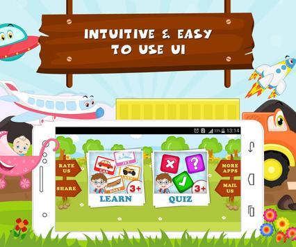 Learn Vehicle Names - Kids Fun screenshot 8