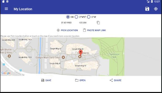 My Location - Latitude Longitude Save / share apk screenshot