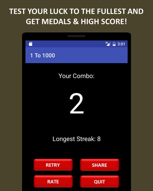 ... 1 To 1000 Game (Lucky Game) ảnh chụp màn hình 10 ...