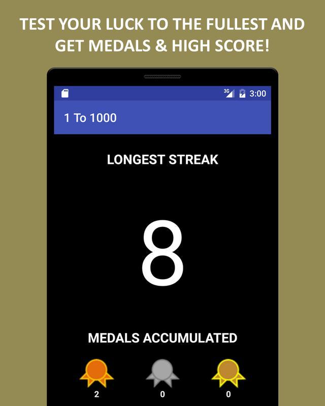 ... 1 To 1000 Game (Lucky Game) ảnh chụp màn hình 11 ...