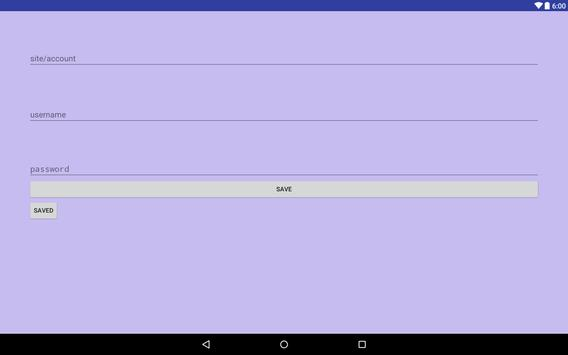 Password Vault apk screenshot