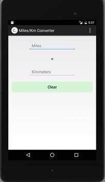 Miles/Km Converter screenshot 3