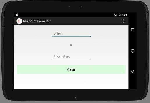 Miles/Km Converter screenshot 2