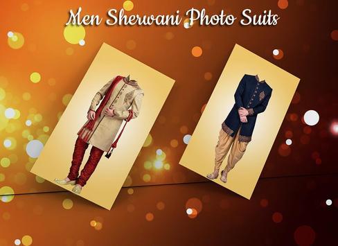 Man Sherwani Photo Suit screenshot 1