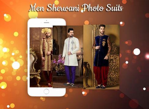 Man Sherwani Photo Suit screenshot 3