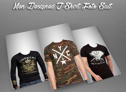 Men Designed T-Shirt Photo Suit poster