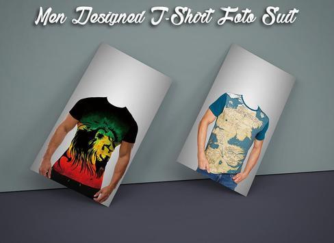 Men Designed T-Shirt Photo Suit screenshot 2