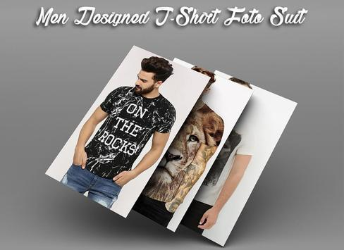Men Designed T-Shirt Photo Suit screenshot 4