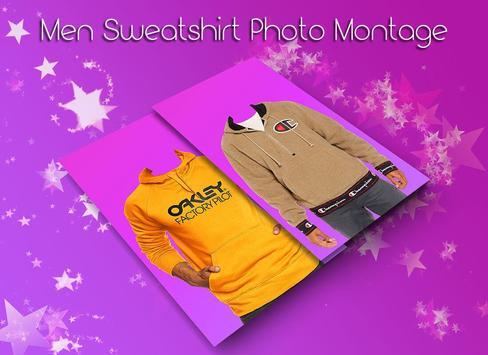 Men Sweat shirt Photo Suit screenshot 2
