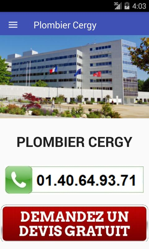 Plombier Cergy poster