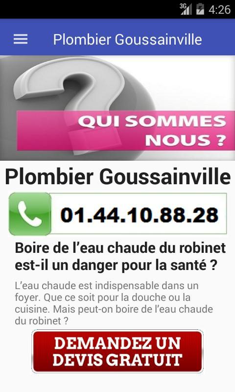 PLOMBIER Goussainville poster