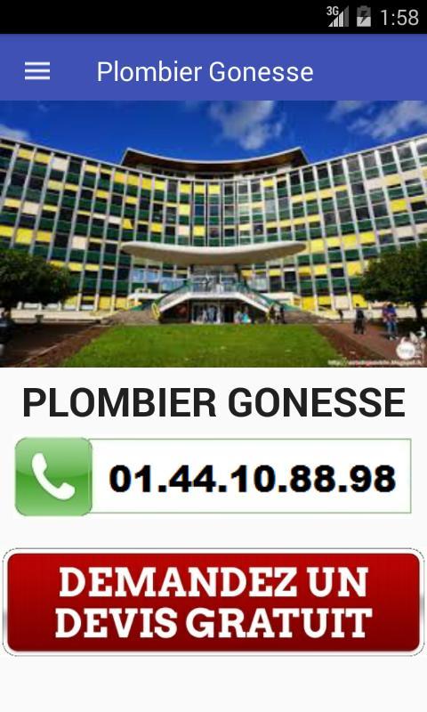 Plombier Gonesse poster
