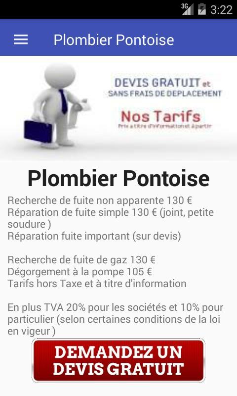 PLOMBIER PONTOISE poster