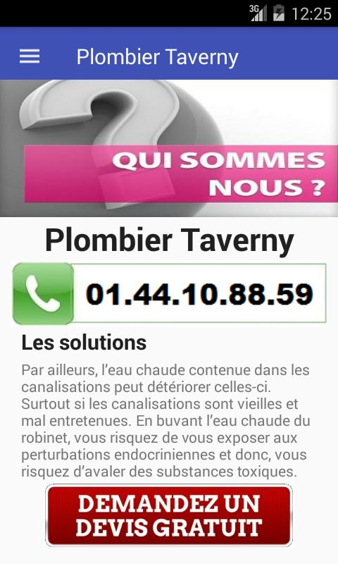 Plombier Taverny poster