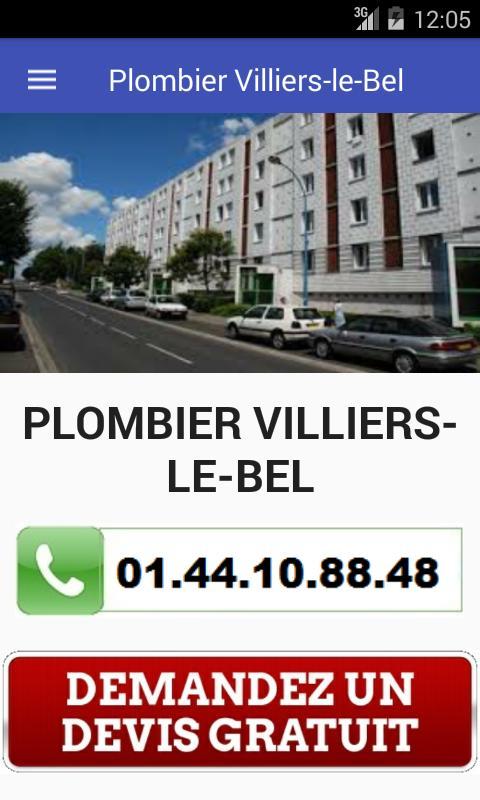 Plombier Villiers-le-Bel poster