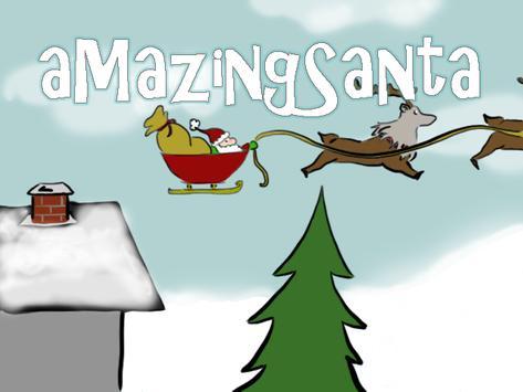 aMazeing Santa poster