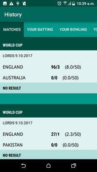 Cricket Scorer apk screenshot