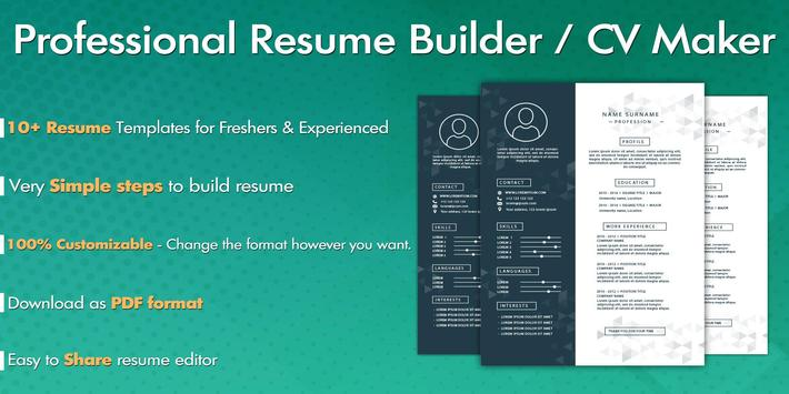 Free Resume Builder – CV Maker for Android - APK Download