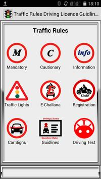 Traffic Rules Driving License Guidelines poster