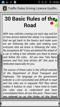 Traffic Rules Driving License Guidelines screenshot 24