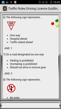 Traffic Rules Driving License Guidelines screenshot 7