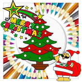 Merry Christmas Colouring icon